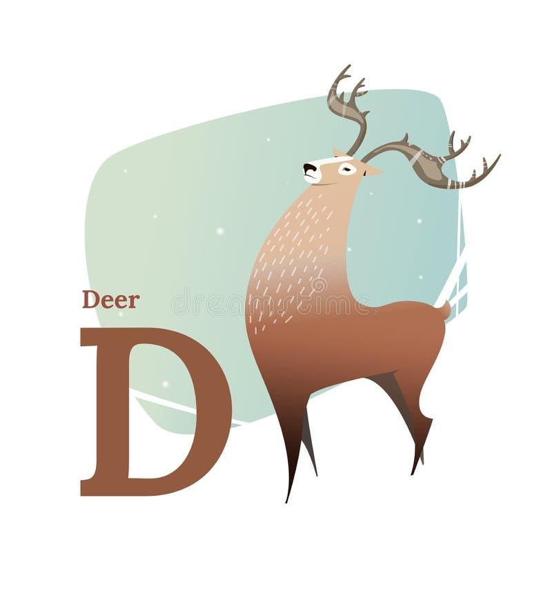Alfabeto animal stock de ilustración