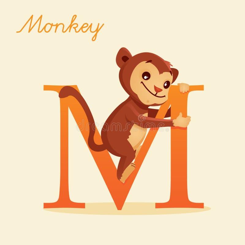 Alfabeto Animal Con El Mono Fotografía de archivo libre de regalías