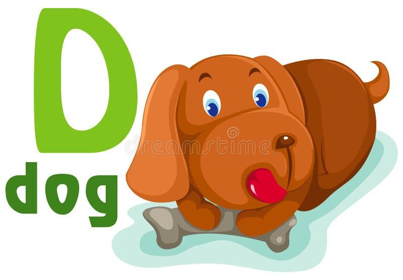 alfabeto animal D ilustración del vector