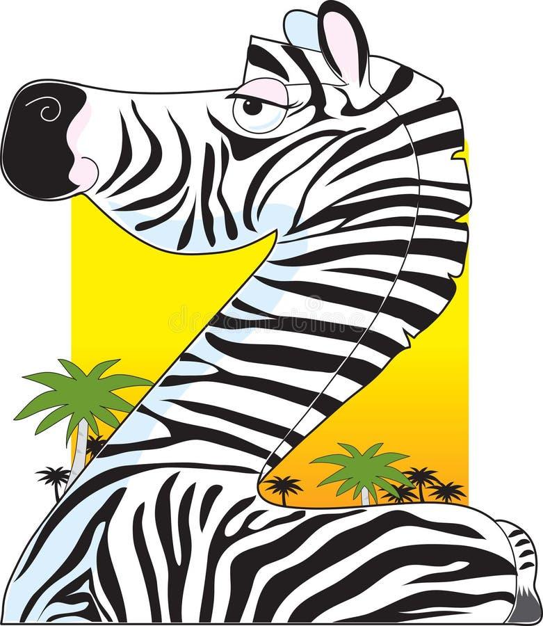 Alfabeto animal Z ilustração royalty free