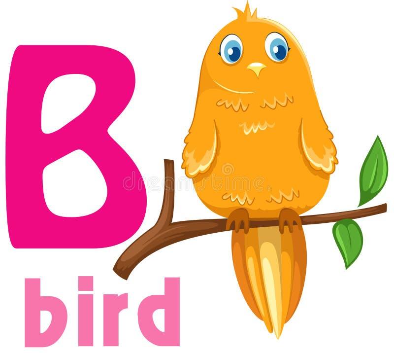 Alfabeto animale B illustrazione di stock