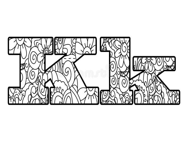 Único Letra K Para Colorear Páginas Duras Imagen - Dibujos Para ...