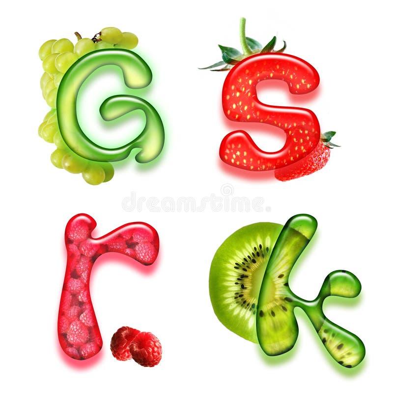 Alfabeto apetitoso 3 ilustração do vetor