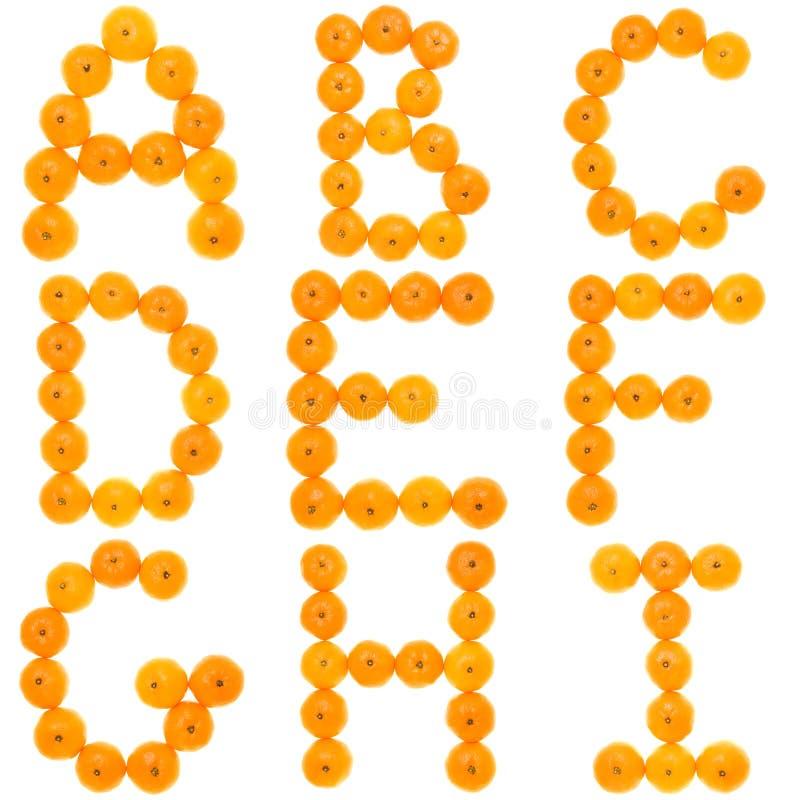Alfabeto arancione immagine stock