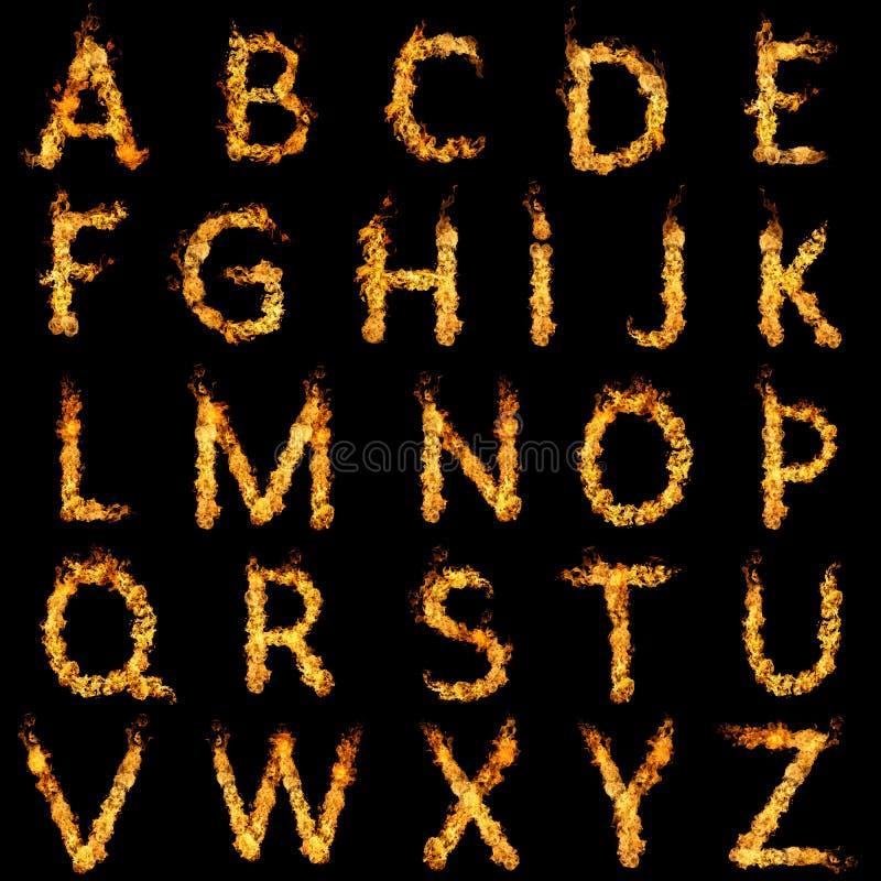 Alfabeto ardente ilustração do vetor