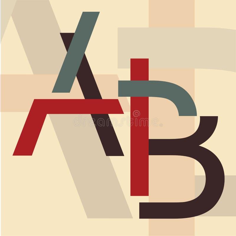 Alfabeto A, B illustrazione di stock