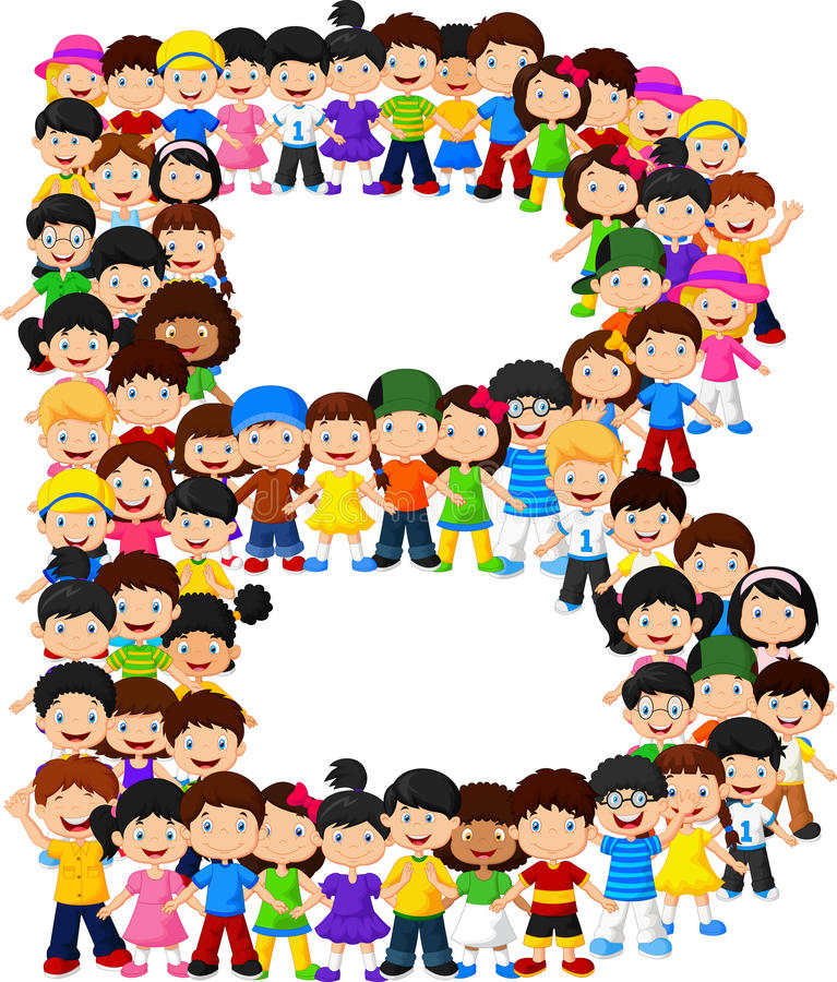 Alfabeto B do formulário das crianças ilustração stock
