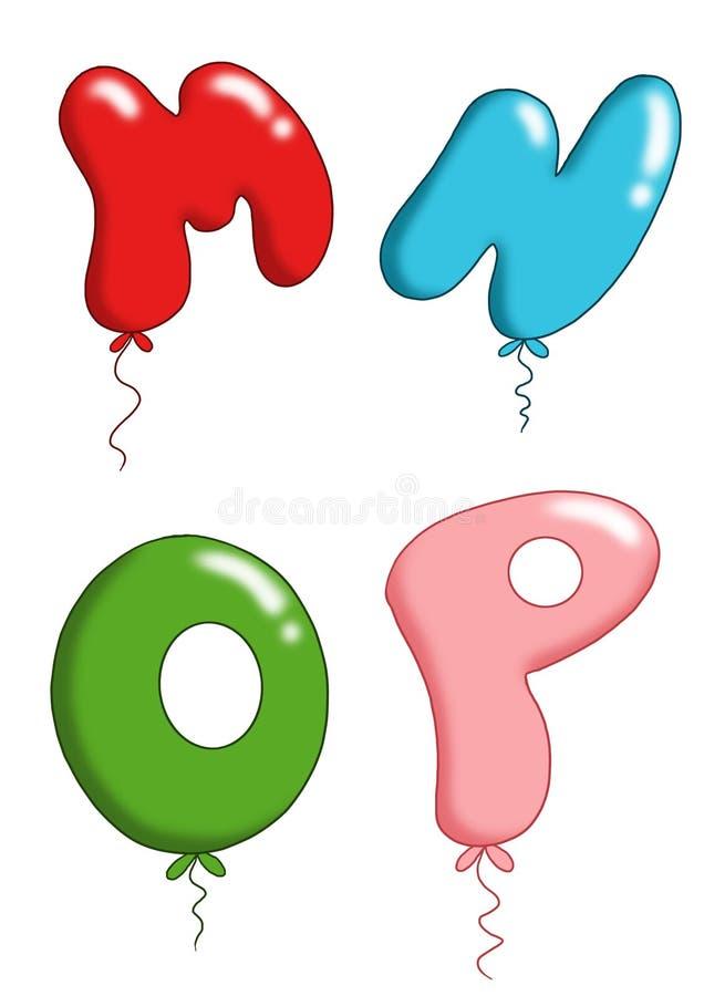 Alfabeto - balões 4 do brinquedo ilustração do vetor