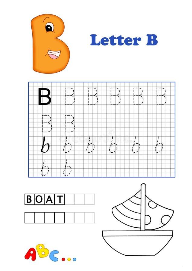 Alfabeto, barco stock de ilustración