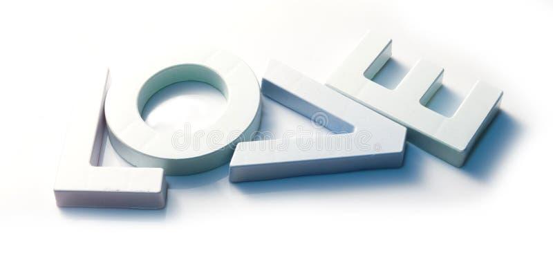 Alfabeto bianco del testo di amore immagine stock