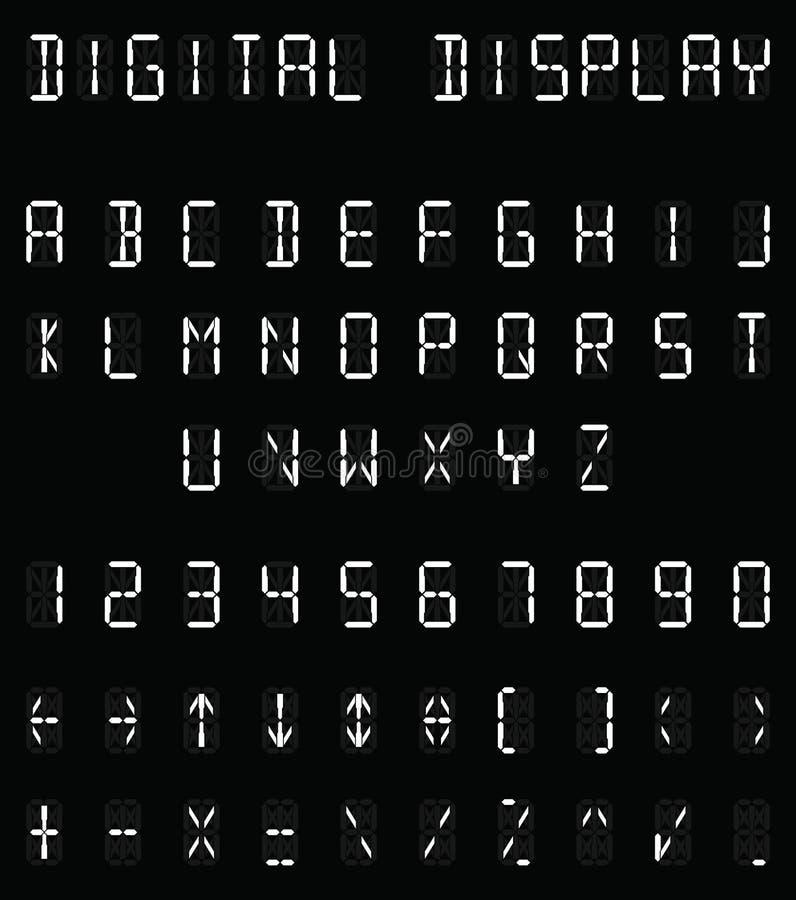Alfabeto blanco de Digitaces libre illustration