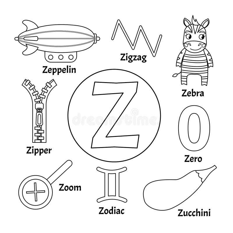 Alfabeto bonito do animal das crianças do vetor ilustração do vetor