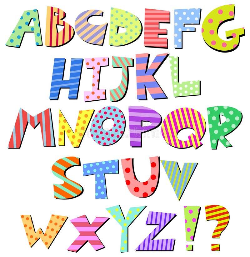 Alfabeto cómico stock de ilustración