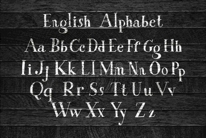 Alfabeto caligr?fico do vetor ilustração royalty free