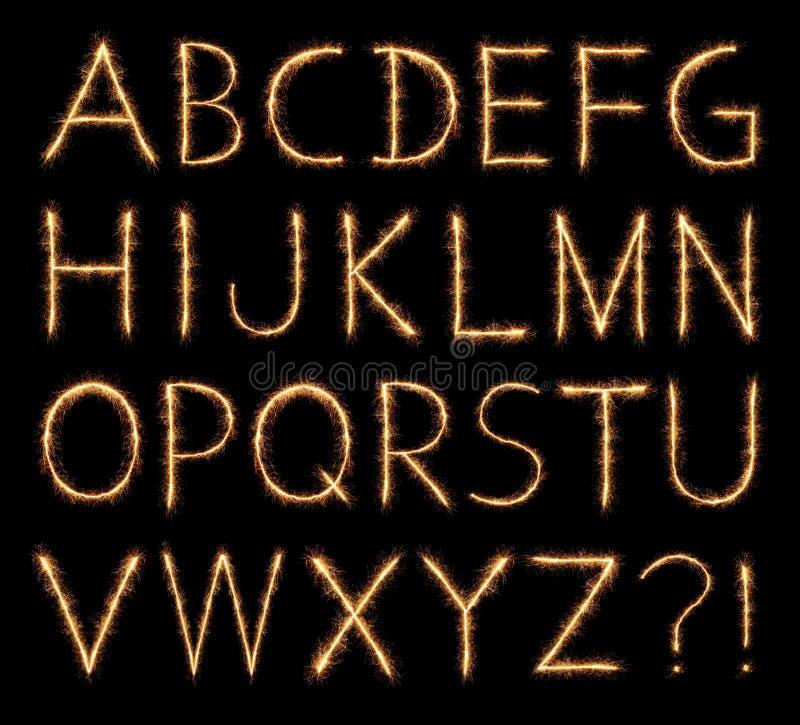 Alfabeto chispeante ilustración del vector