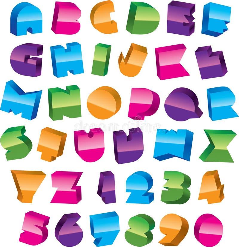 Download Alfabeto colorido ilustração do vetor. Ilustração de cor - 12801767