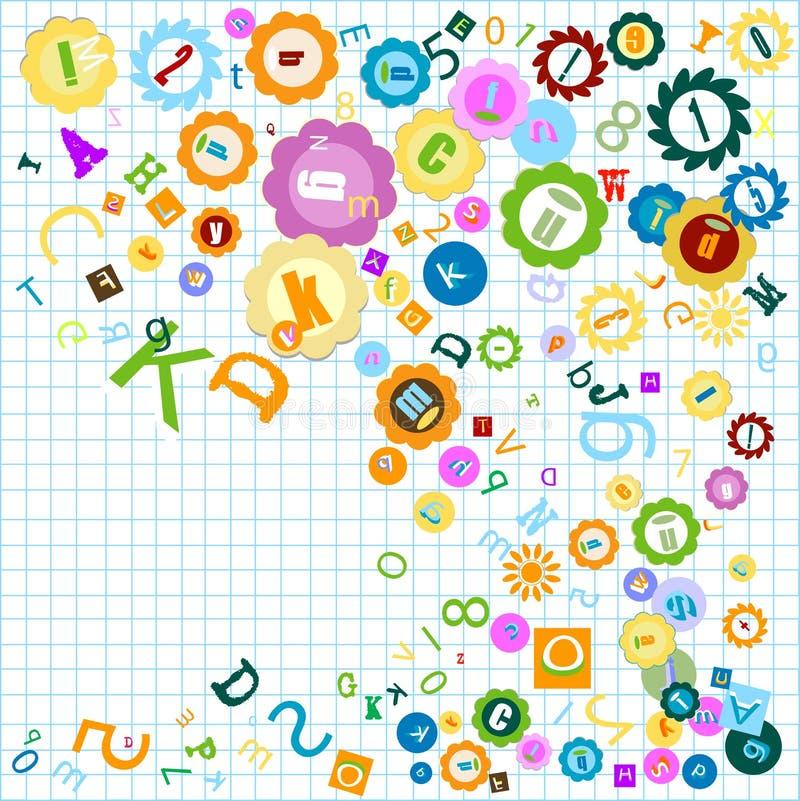 Alfabeto colorido ilustração stock
