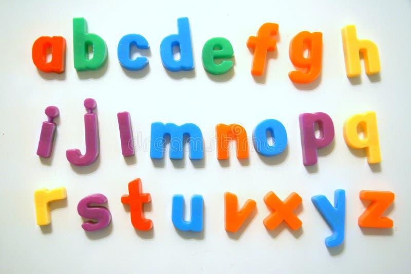 Alfabeto colorido imagens de stock royalty free