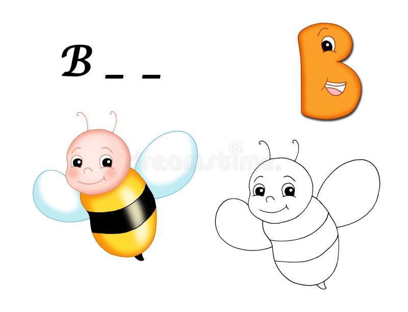 Alfabeto colorido - B ilustração royalty free