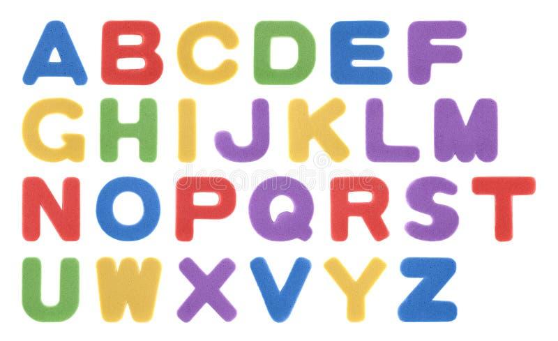 Alfabeto colorido da espuma foto de stock royalty free