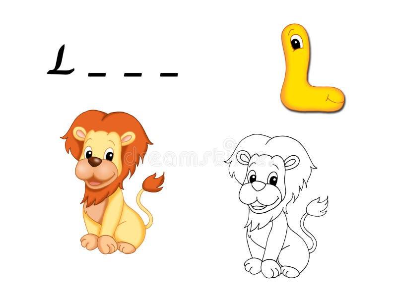 Alfabeto colorido - L ilustração stock