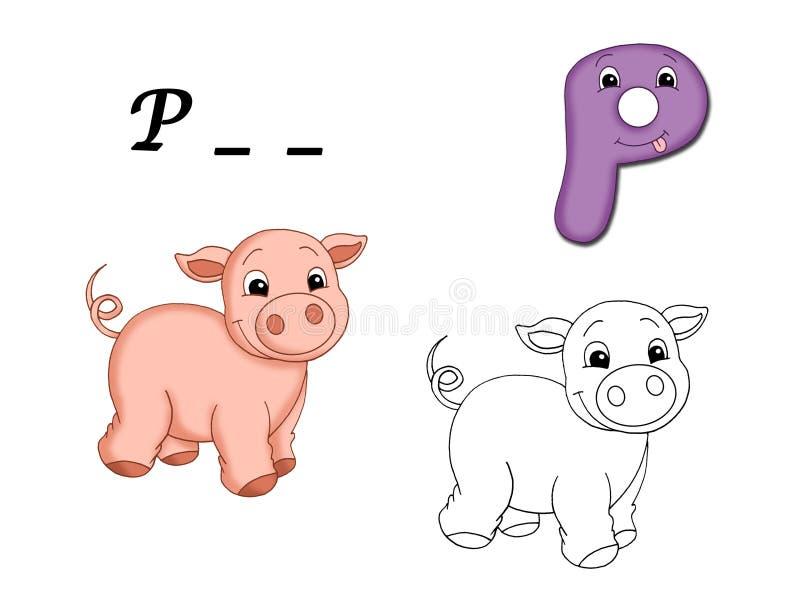 Alfabeto colorido - P ilustração do vetor