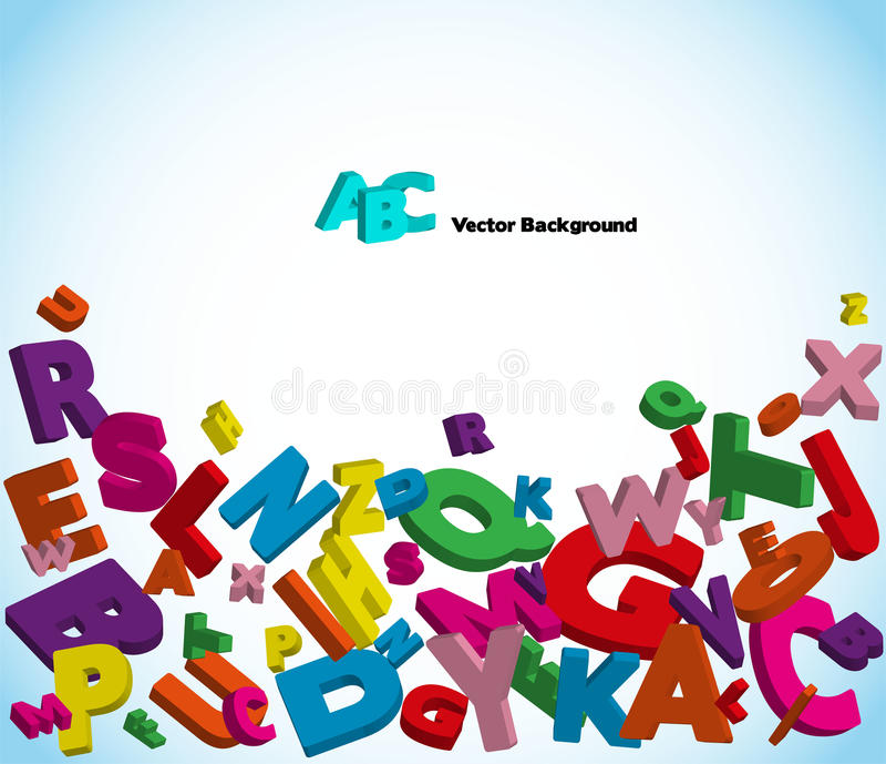 Alfabeto com letras coloridas ilustração do vetor