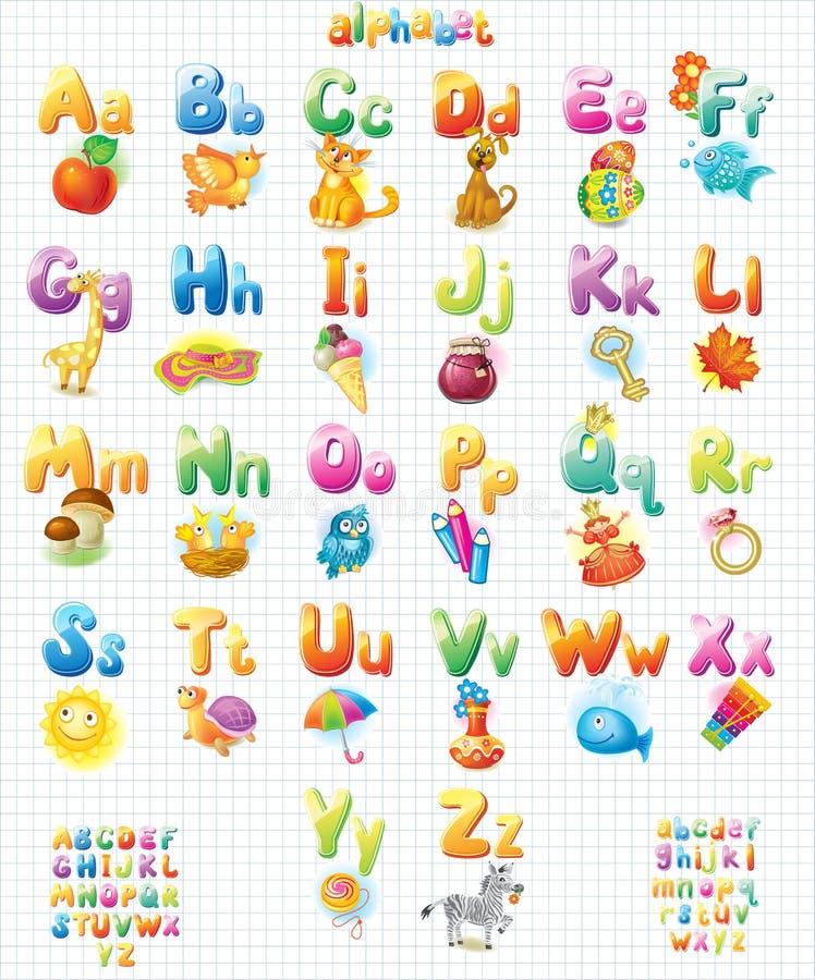 Alfabeto con las imágenes para los niños libre illustration