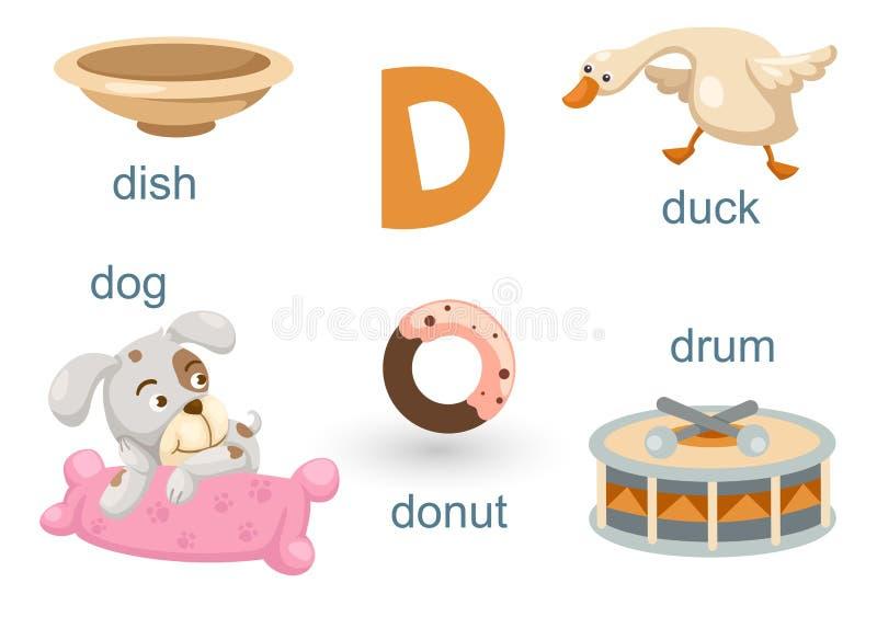 Download Alfabeto D ilustración del vector. Ilustración de educación - 42432484