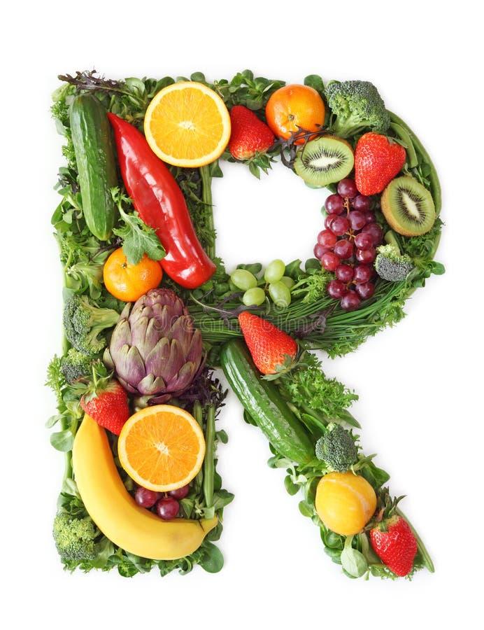 Alfabeto da fruta e verdura foto de stock