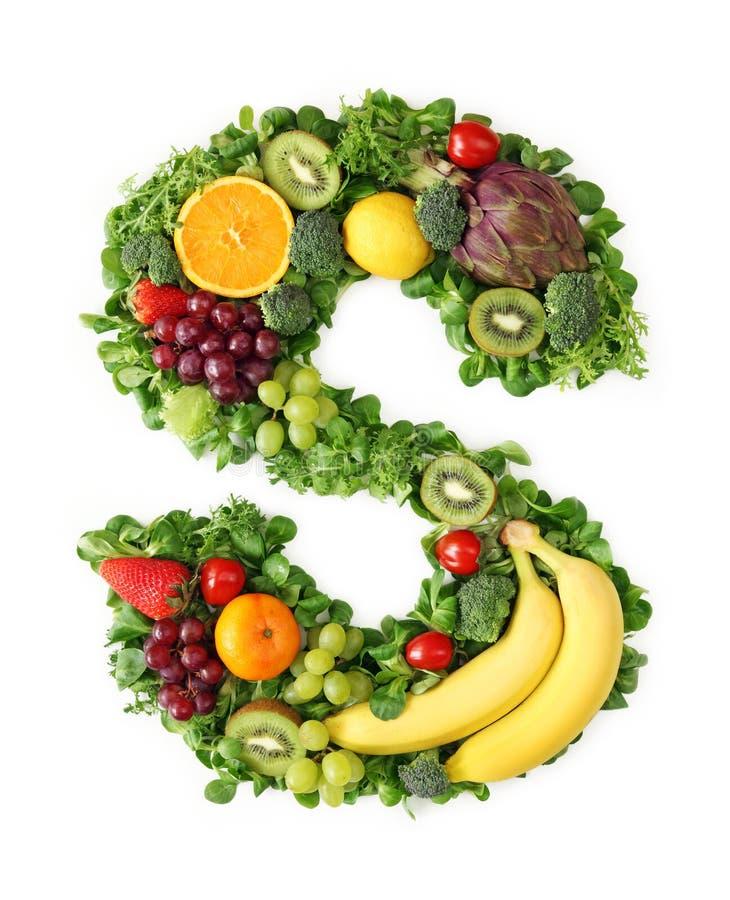 Alfabeto da fruta e verdura fotografia de stock