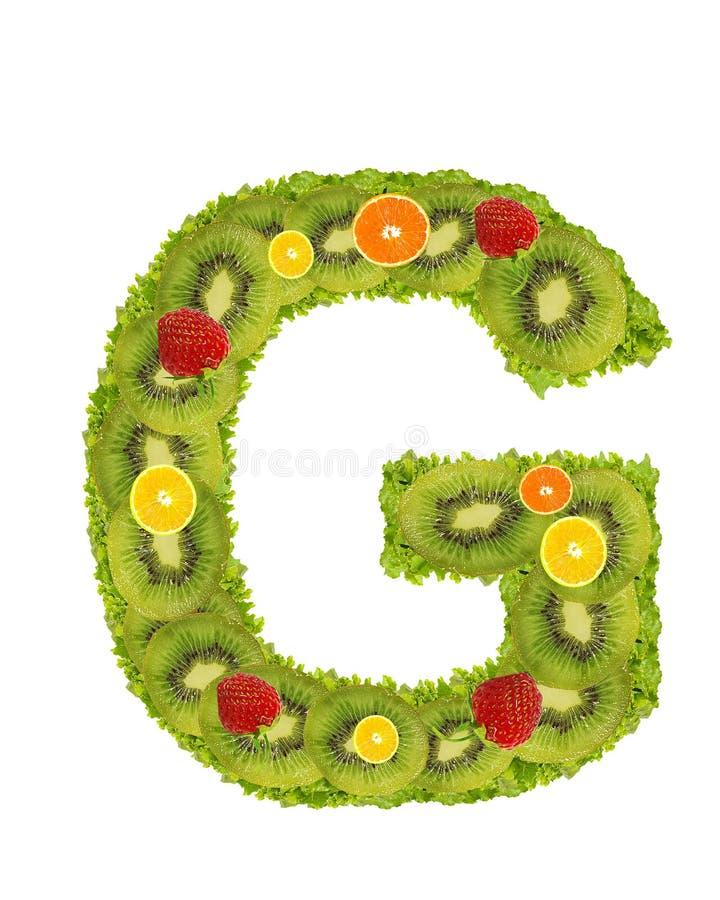 Alfabeto da fruta - G ilustração royalty free