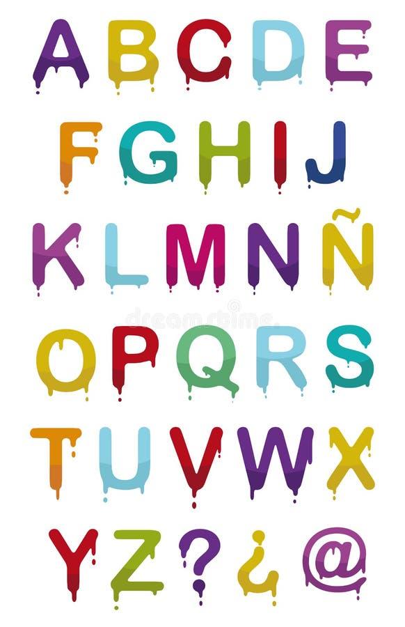 Alfabeto da gota ilustração royalty free