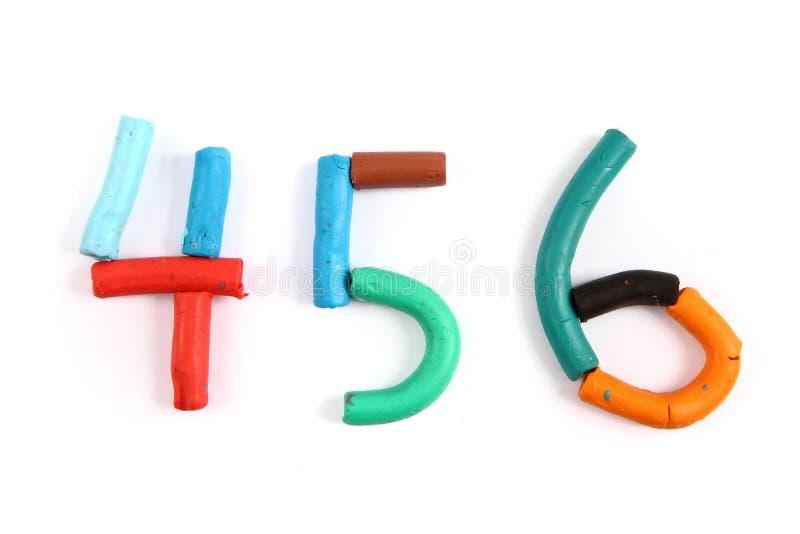 Alfabeto da massa de modelar imagem de stock