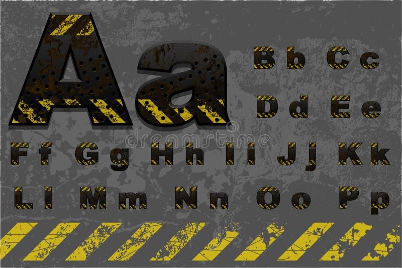 Alfabeto da tecnologia (parte 1 de 2) ilustração do vetor