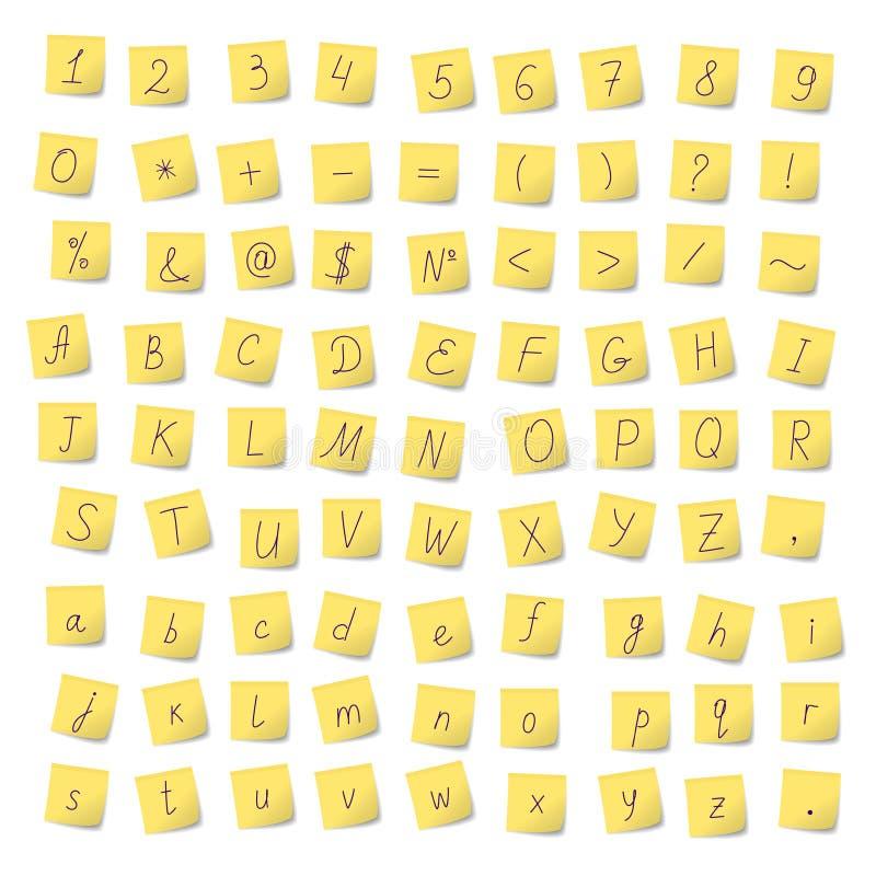 Alfabeto dagli autoadesivi royalty illustrazione gratis