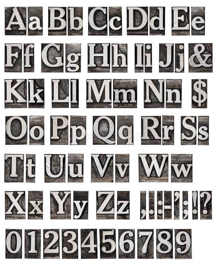 Alfabeto das letras do metal foto de stock royalty free