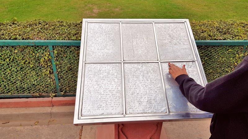 Alfabeto de Braille con los números de Braille imagen de archivo libre de regalías