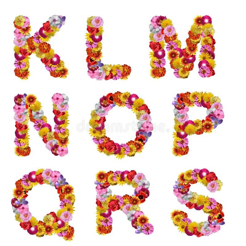 Alfabeto de flores imagenes de archivo