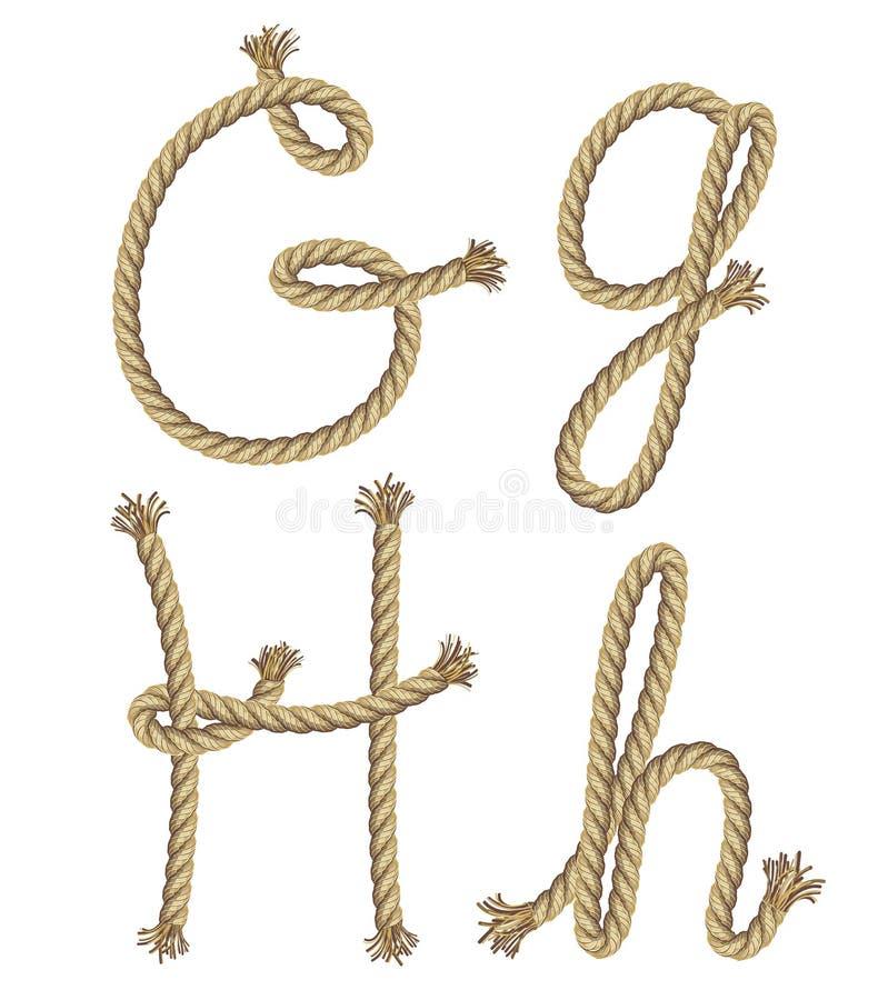 Alfabeto de la cuerda.  ejemplo libre illustration