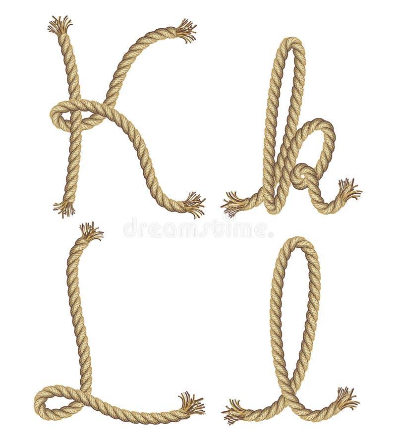Alfabeto de la cuerda.  ejemplo stock de ilustración