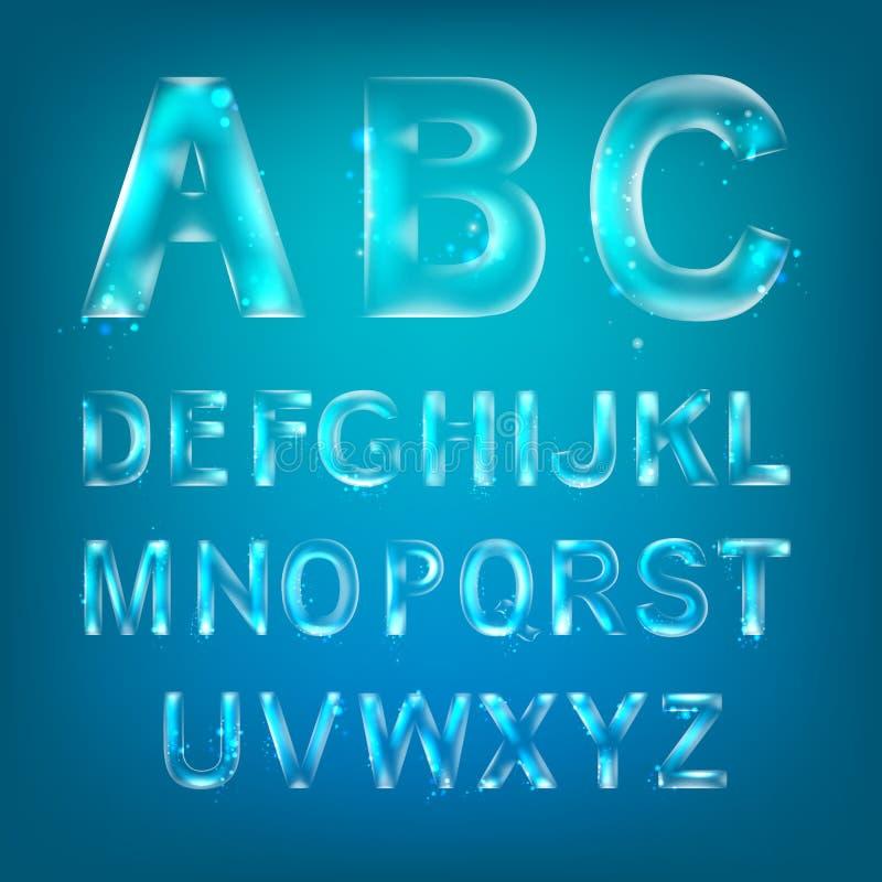 Alfabeto de la fuente ilustración del vector