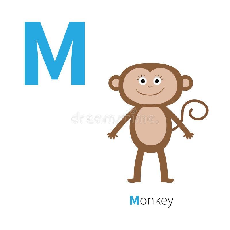 Alfabeto De La Letra M Monkey Zoo ABC Inglés Con Las Tarjetas De La ...