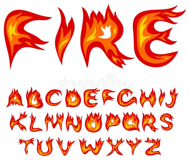 Alfabeto de la llama stock de ilustración