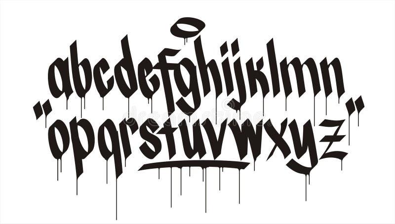 Alfabeto de la pintada libre illustration