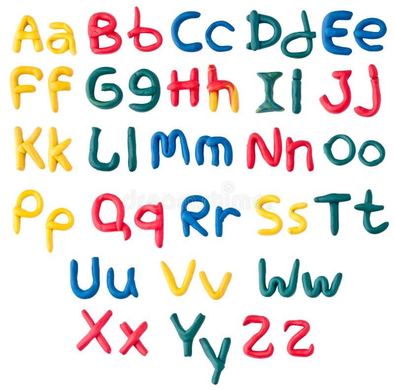 Alfabeto de la plastilina fotografía de archivo libre de regalías