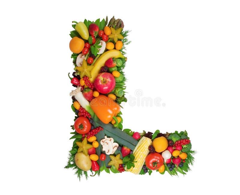 Alfabeto de la salud - L foto de archivo libre de regalías