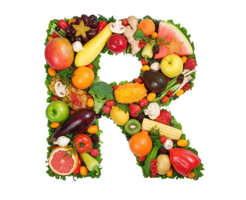 Alfabeto de la salud - R imagen de archivo