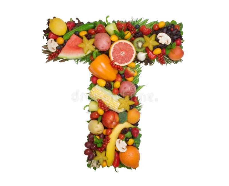 Alfabeto de la salud - T imagen de archivo libre de regalías