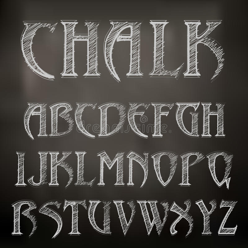 Alfabeto de la tiza libre illustration